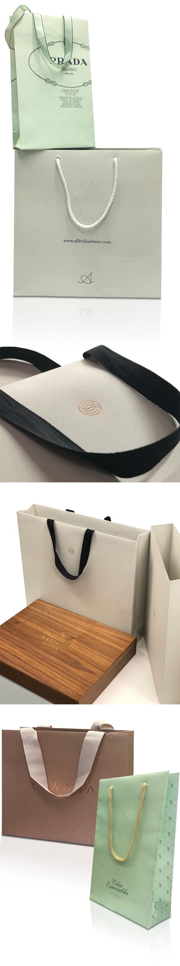 92bc4b141 Bolsas de papel de lujo personalizadas con asas de cordón